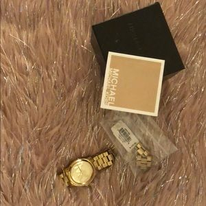 Michael Coors gold watch authentic